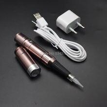Новая Коричневая машина для перманентного макияжа ручка и аккумулятор