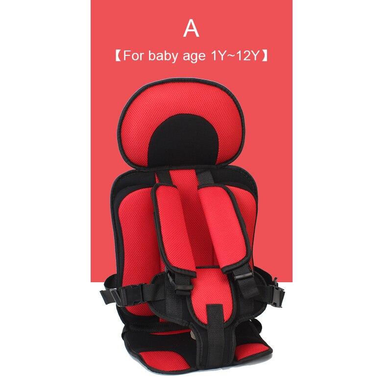1 шт. удобный детский коврик для сидения, Детские Портативные дорожные подушки для стульев с ремнем безопасности, коврики для сидения для малышей в возрасте От 6 месяцев до 12 лет - Цвет: A