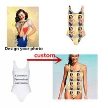 f82e50d0025 2019 Custom Printing Swimwear Women Sexy One Piece Swimsuit Beach Bathing  Suit Sport Swimming Suit Girls