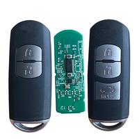 RMLKS Replacement New Smart Remote Key Fob 433MHz Fit For Mazda 3 6 CX 4 CX 5 MX 5 SKE13E 01 With Emergency Key