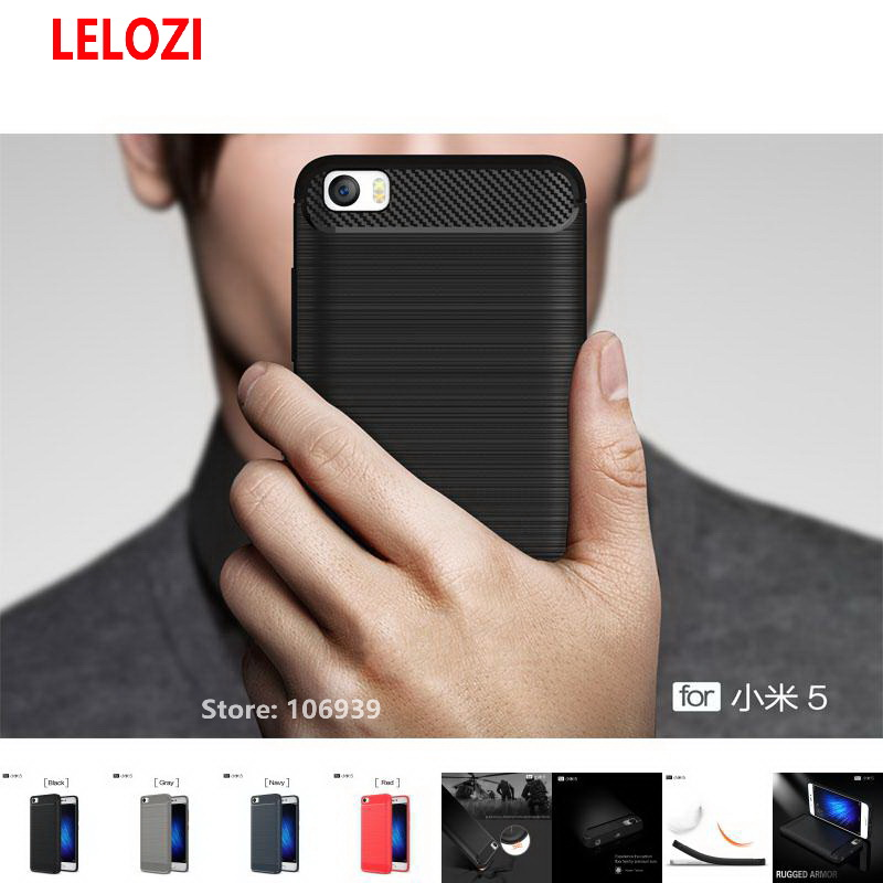 LELOZI Soft TPU Armor Rugged Carbon Fiber Brushed Men Phone Cell Coque Etui Case For Xia ...