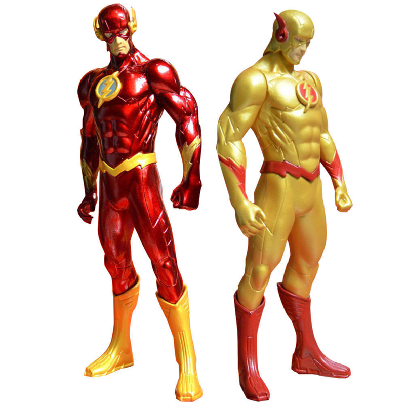 18cm DC The Justice League Yellow and Red The <font><b>Flash</b></font> <font><b>Barry</b></font> <font><b>Allen</b></font> PVC Anime Action Figure Collection Toy Gift without box image