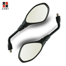 ZXMT Motorcycle Mirror Scooter E-Bike Rearview Mirrors Back Side Convex Mirror ABS Plastic for BMW F800GS F650GS F800R 2008-2016 цена
