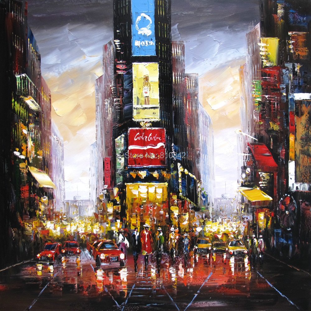 Palette font b knife b font oil painting Modern handmade oil on canvas New York Time