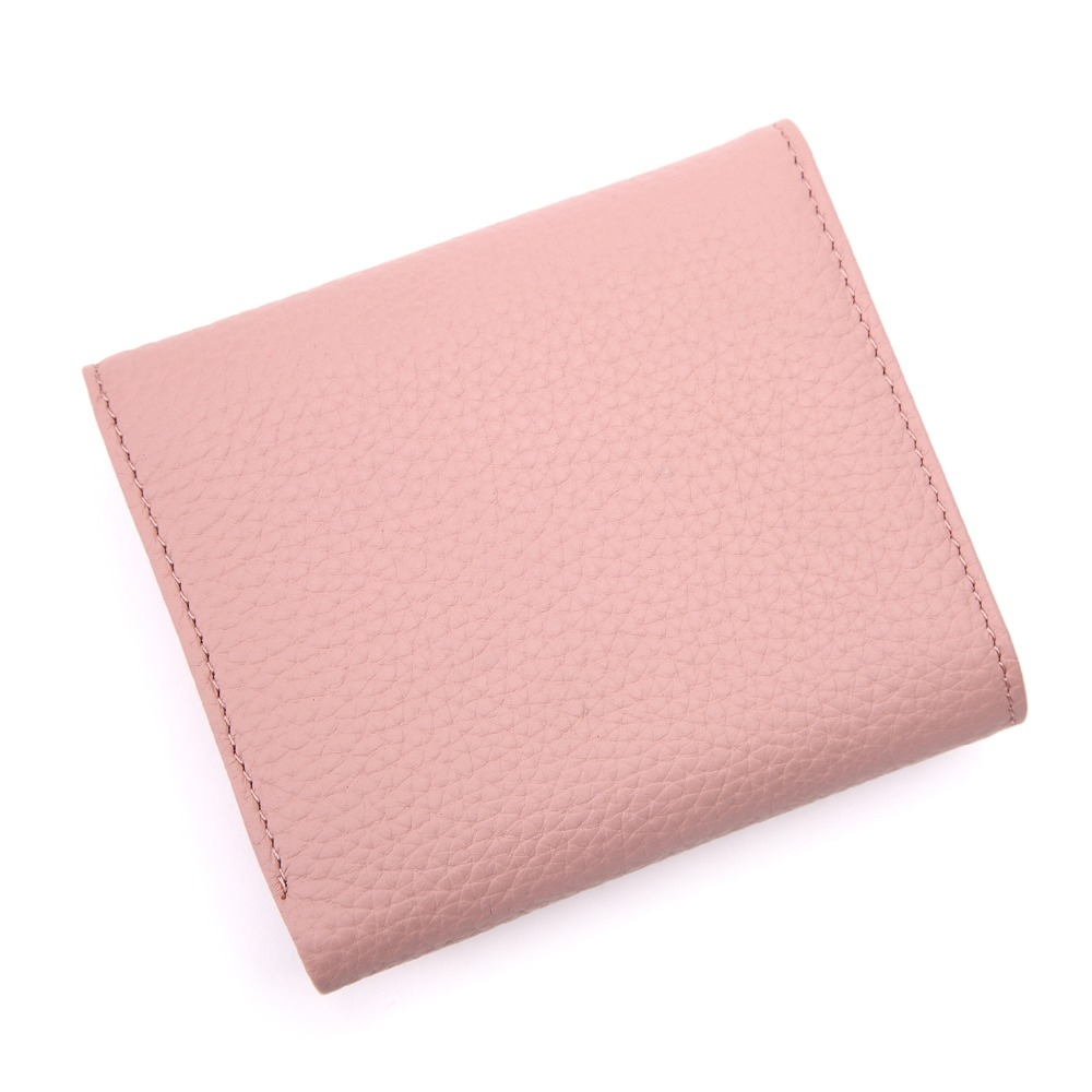 BISI GORO Women Mini Wallets Genuine Leather Clutch Wallet Purse Money Coin Card Holder Short Girls Pink Wallet Women Card Purse