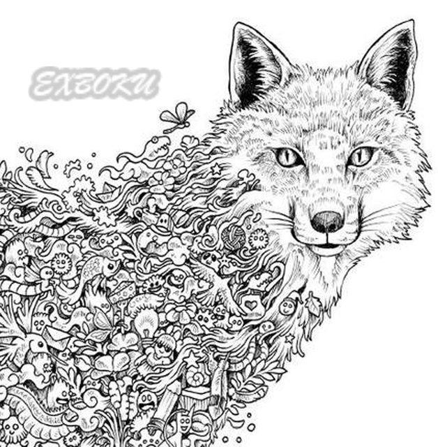 Tienda Online 96 páginas animal libro para colorear para adultos ...