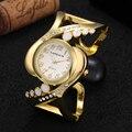 2016 НОВЫЙ Браслет часы Марка CanSnow кристалл Роскошные Дамы наручные часы Мода часы женщины одеваются популярные дизайнер кварцевые часы