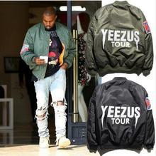 Новый 2016 Ввс Камуфляж Ma1 Куртка Бомбардировщика 2016 Черный Зеленый куртка Хип-Хоп Yeezus Куртка Мужчины Одежда Kanye West Куртка