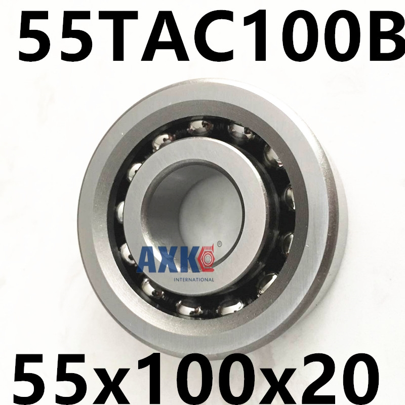 1pcs 55TAC100B 55 TAC 100B SUC10PN7B 55x100x20 AXK  High Speed High Load Capacity Ball Screw Support Bearings 1pcs 17tac47b 17 tac 47b suc10pn7b 17x47x15 mochu high speed high load capacity ball screw support bearings