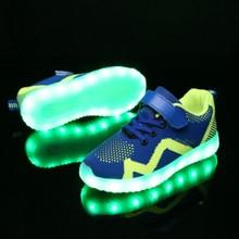 USB Charging Basket Led Child Shoes With Light