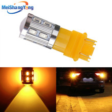 цена на 3157 3156 car light Source 12 SMD 5630 5W Cree Chips P27W/7W led High Power led car bulbs Brake Lights Red Parking White Yellow