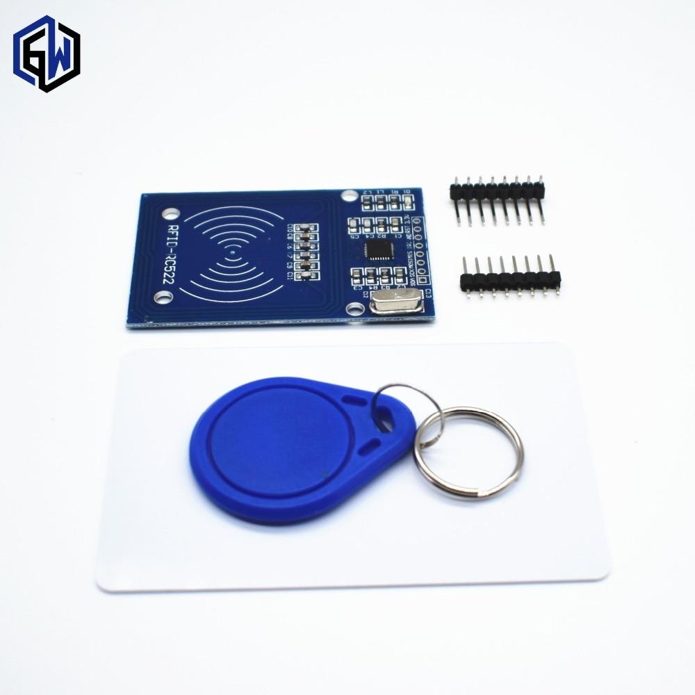 1 ensemble TENSTAR ROBOT RFID module RC522 Kits 13.56 Mhz 6 cm avec étiquettes SPI écrire et lire