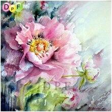 DPF Алмазная вышивка, цветы, алмазная живопись, вышивка крестиком, рукоделие, стразы, Набор алмазной мозаики, домашний декор, рукоделие