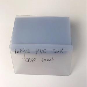 Image 2 - Free Shipping 230pcs Blank Plastic  Inkjet Printable  Business PVC ID Card Transparent Name Card for Epson/Canon Printer