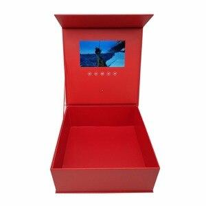Image 4 - 양장본 꽃 비디오 상자 7 인치 2 기가 바이트 메모리 유니버설 인사말 카드 HD 시니어 선물 플레이어에 대한 소책자 매쉬를보고