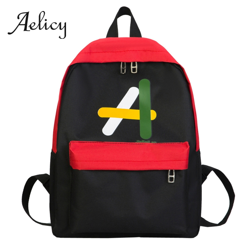 Aelicy Student Backpack Quality Canvas Women Shoulder School Bag For Teenager Girls Boys Neutral Hit Color Bookbag PreppyAelicy Student Backpack Quality Canvas Women Shoulder School Bag For Teenager Girls Boys Neutral Hit Color Bookbag Preppy