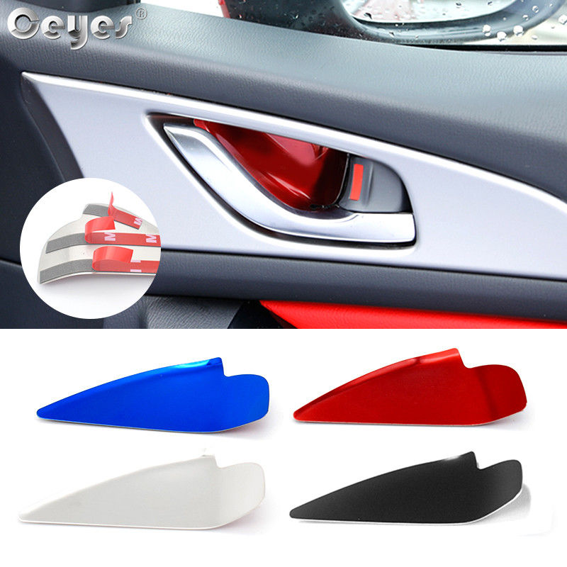 Ceyes Car Styling Interior Accessories Door Handle Wrist Bowl Trim Stickers Fit For <font><b>Mazda</b></font> <font><b>CX</b></font>-5 <font><b>CX</b></font> 5 CX5 <font><b>CX</b></font>-4 For <font><b>Mazda</b></font> <font><b>3</b></font> 6 Axela image