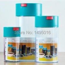 FeiC 1 pc Vácuo Preservação Fresco grãos de café em pó vasilha latas seladas Grande/Médio/Pequeno tamanho