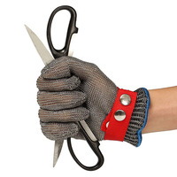 A pair of Stainless Steel Metal Mesh Cut Resistant Glove Durable Quality Working Protection Mitten Cut Resistant Safety Gloves