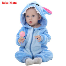 BEKE MATA Baby Rompers Winter 2017 Cartoon Animal Baby Boy Rompers Jumpsuit Fleece Baby Girl Clothes Long Sleeve Infant Clothing
