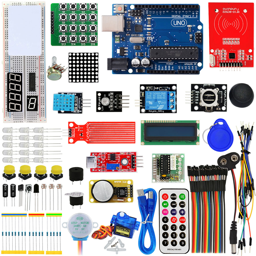 KEYES RFID ARDUINO Learning Kit With Uno R3 Upgrade Arduino Starter Kit For Networking Learning