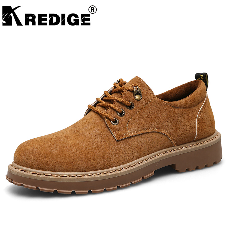 KREDIGE New Arrival Breathable Suede Men Shoes British Deodorant Lace-Up Low Casual Shoes Height Increasing Male Shoes 39-44 kredige genuine leather casual shoes british fashion leisure breathable men shoes lace up designer height increasing shoes 39 44