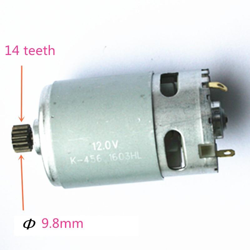 цена на 14 Teeth DC 12V Motor Replacement for MAKITA  629821-7 8270D 8270DWE 8271DWE 8271D 8270DWP Cordless Drill Driver Screwdriver