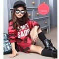2016 зимние девушки Корейский диапазон моды камуфляж бархат утолщение девушки длинный отрезок рубашки свитер