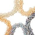 70 unids/String 8mm Perlas de Cristal Multicolor de Corte Tallado Top Lujo Austria Cristal Checo Ronda Del Grano Del Agujero Para niños Joyería de DIY Que Hace