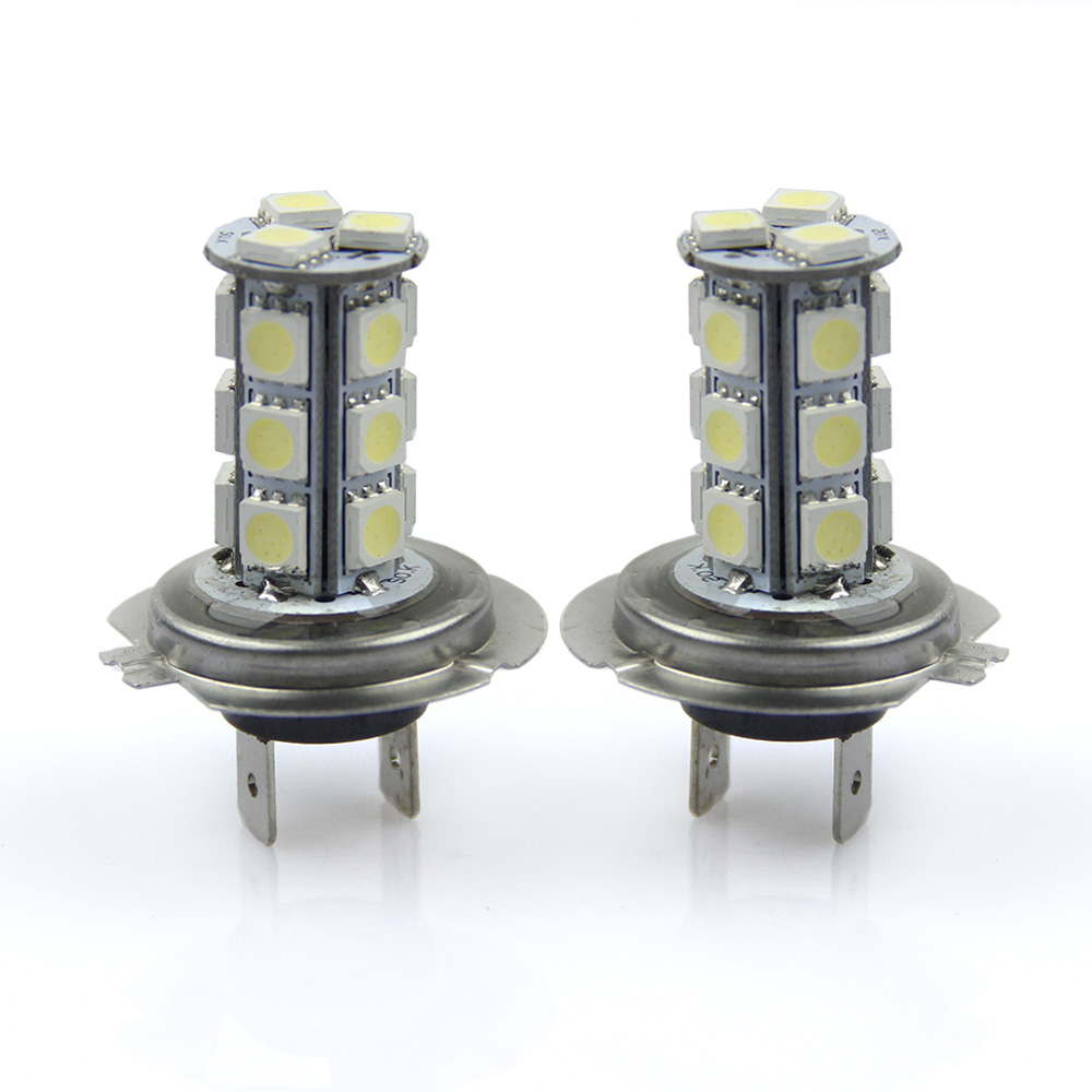 New H7 led for car light auto  lamp H7 5050 18 SMD  White Fog Tail Signal 18 LED  Car Light Lamp Bulb 12V for car-styling