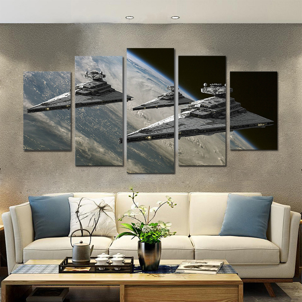Unframed HD Canvas Prints Spce Ship Giclee Wall Decor Prints Wall Pictures For Living Room Wall Art Decoration Dropshipping