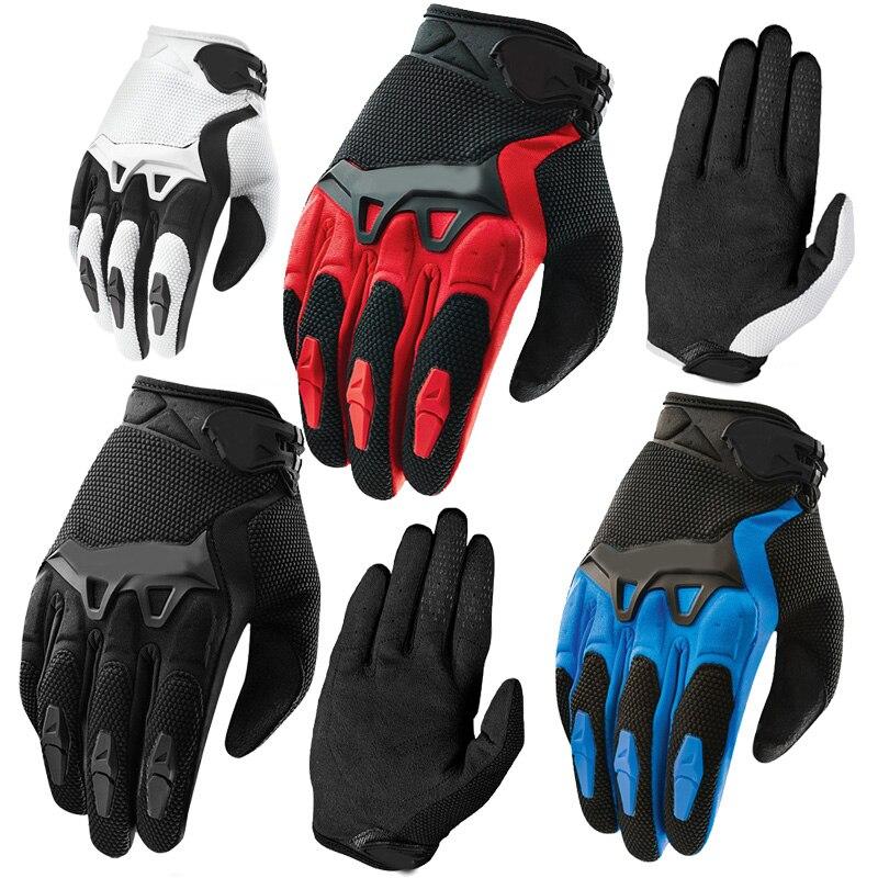 Mode de haute qualité Plein Doigt Moto Vélo Gants Motocross 7 couleurs taille M-XL Moto De Protection Gears Gants Pour Hommes