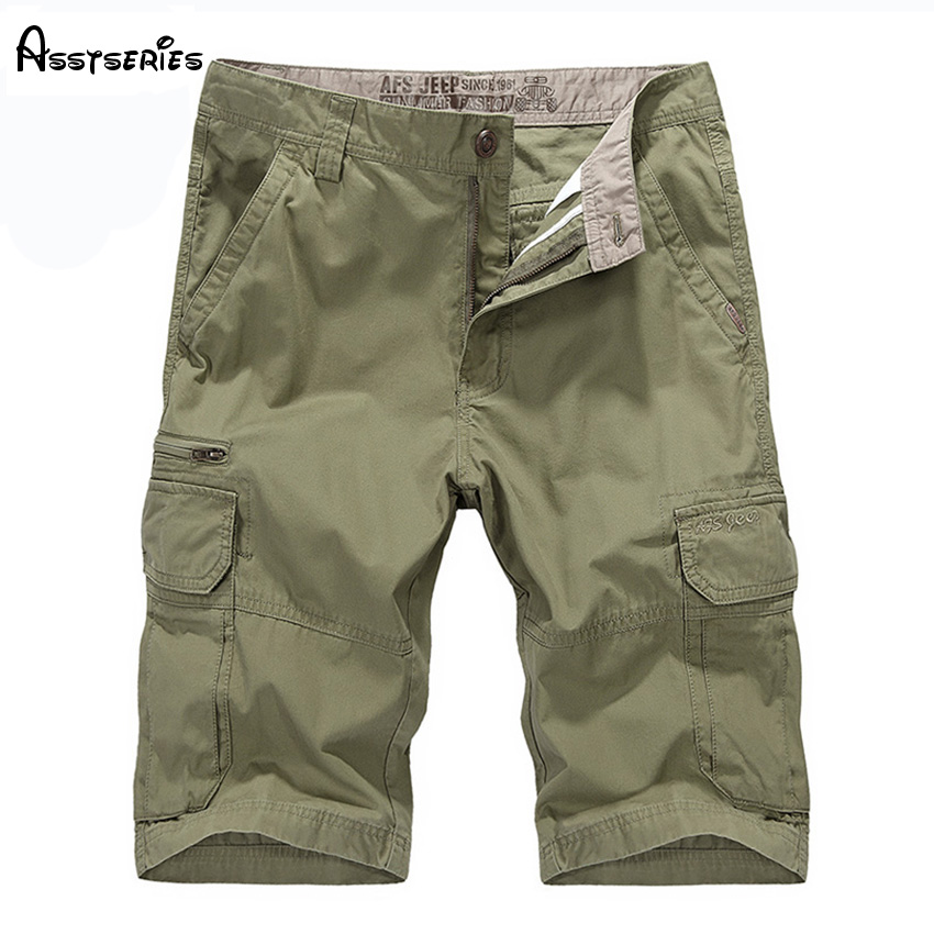 New 2018 Men Cargo Shorts Casual Loose Brand Short Pants Military Summer Style Knee Length Plus Size 4 Colors Shorts D60