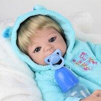 55 cm de Silicona Suave Muñecas Renacer Bebé Realista Renacer Muñeca 22 pulgadas Llena de Vinilo Boneca BeBe Reborn Doll Para Niñas y niños
