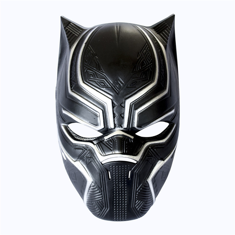 Black Panther Masks Movie Fantastic Four Cosplay Men's High Party Mask for Halloween Cosplay-Props Marvel Superhero Figu
