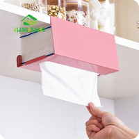 JiangChaoBo New Iron Kitchen Tissue Holder Hanging Bathroom Toilet Roll Paper Holder Towel Rack Kitchen Cabinet