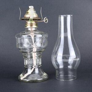 Advance Booking 32cm Glass Kerosene Lanterns Oil Lamp Glass Classic Retro Family Decorative Lights High Capacity High Quality