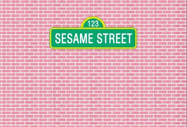 7x5FT Vintage Light Pink Bricks Wall Sesame Street Custom Photo Background Backdrop Vinyl 220cm X 150cm