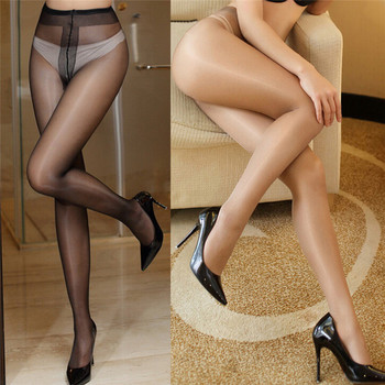 Women's Sexy Oil Shiny Glossy Classic Pantyhose Yarns Sexy Satin Stockings Girl Ladies Fitness Leggings