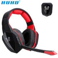 Huhd 7.1 surround som estéreo fone de ouvido 2.4 ghz óptico sem fio gaming fone de ouvido para ps4 3 xbox 360 um s pc tv fones