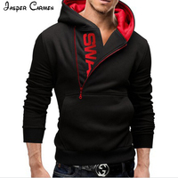 2017 Free Shipping Fashion Choice For Young People Men S LOGO Side Zipper Color Code Hoodie