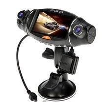 """GPS Logger G-sensor Rejestrator Samochodowy Cam R310 2.7 """""""" LCD Ekran Obrotowy Podwójny Len Rejestrator DVR Pojazdu dwa aparaty"""