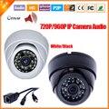 Mini HD 720 P 960 P cámara IP Audio entrada con externa micrófono Pickup seguridad Dome cámara de interior del IP Audio ONVIF del IP del P2P Cam