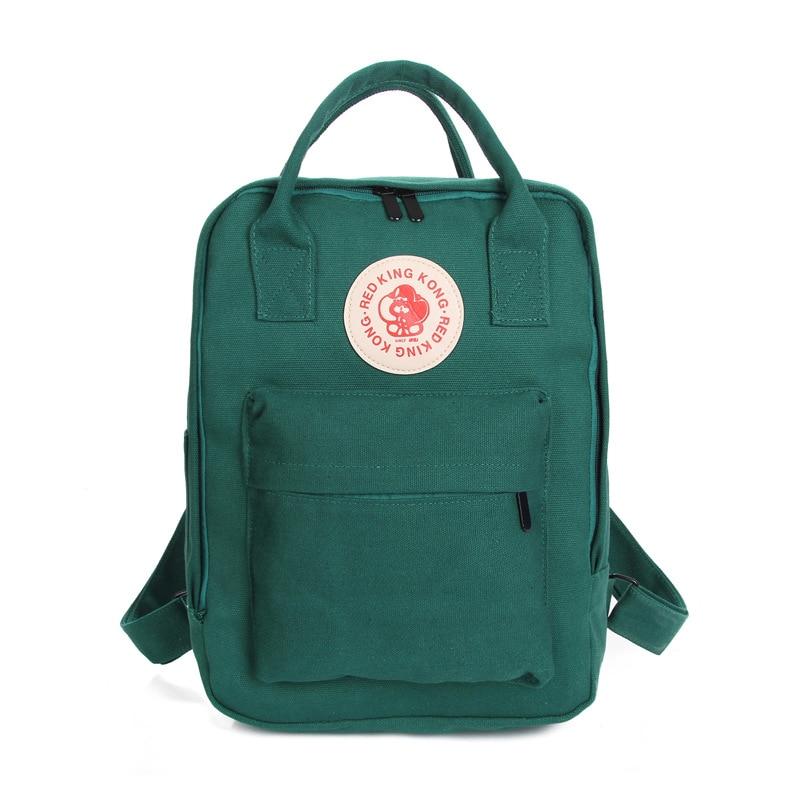 5) TEXU Canvas Backpacks Women Backpacks School Bags for Girls Student Book Bag Schoolbag Dark Green new anime death note misa amane pu canvas durable school student book bag messenger shoulder bags