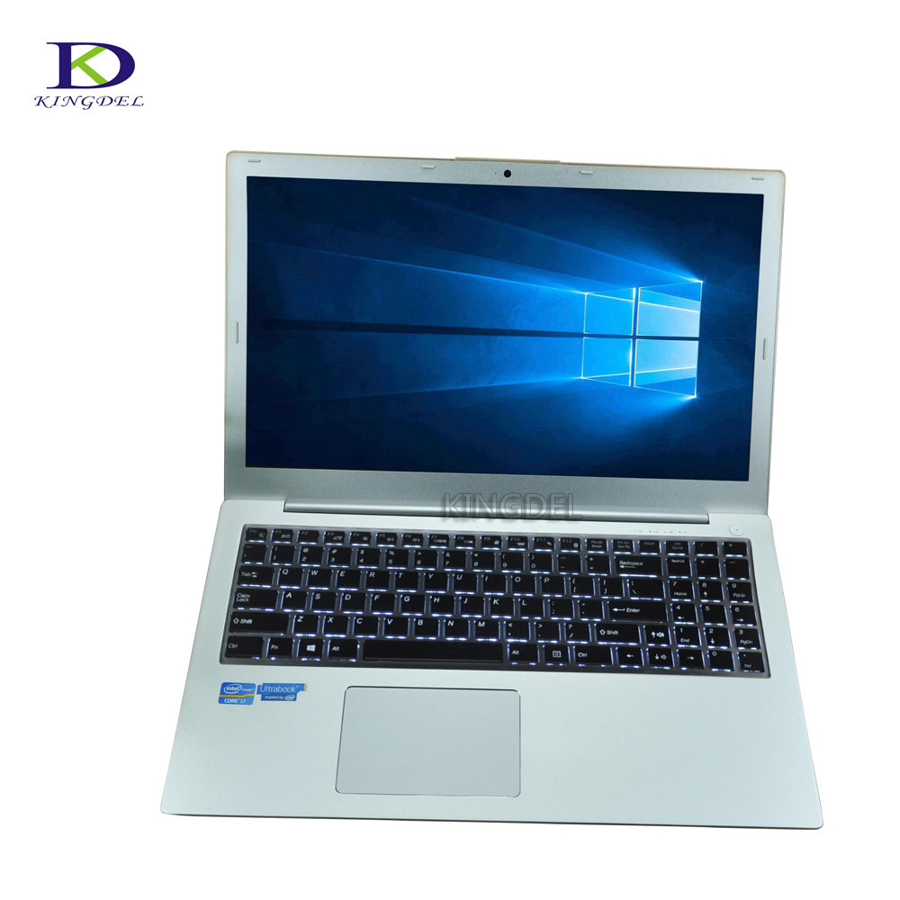 Hot selling 15.6 Inch i7 6500U Ultrabook with Backlit Keyboard Type-c dual core i7 6600U Laptop computer 8G RAM+128G SSD+1TB HDD
