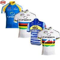 גברים קלאסיים חדשים רכיבה על אופניים ג 'רזי אופניים ללבוש כחול לבן ביגוד MTB אופני צוות pro שרוול קצר רכיבה על אופניים ג' רזי Ciclismo ropa