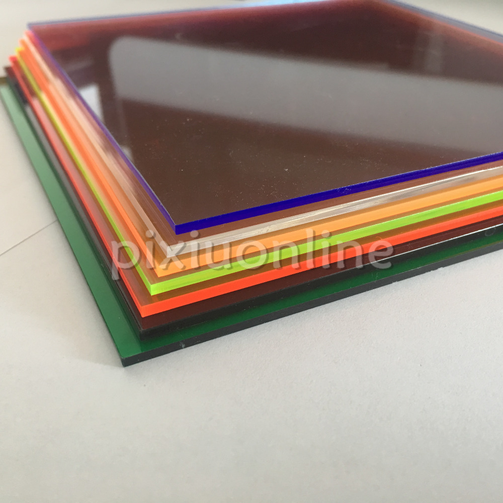 1pc J583b 15*15cm Transparent Acrylic Plate Sheet 2.3mm Thickenss Plastic Square Board DIY Hard Material Dropshipping