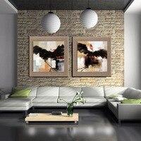 2 pannello Moderna picture Home Decoration wall art angelo germoglio di lino Stampa pittura a olio di arte per soggiorno