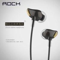 Rock Zircon Stereo Earphone Headset In Ear Handsfree Headphones 3 5mm Earbuds For IPhone Samsung With