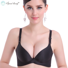 Special beauty!!!Free shipping!!!Super Push Up Smooth One-Piece Seamless Wireless Simple Nine colors Sexy Bra